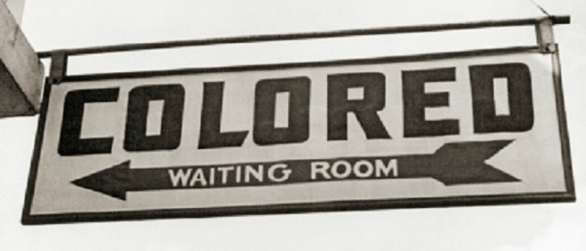 segregation colored waiting room sign Getty Images