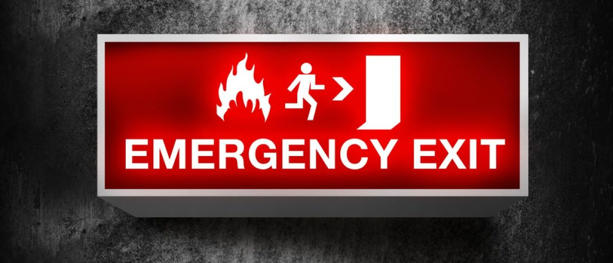 Emergency exit [Shutterstock/igorstevanovic]