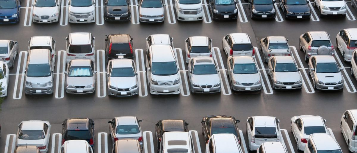 Crowded parking in Tokyo on August 20, 2012. [Shutterstock - longtaildog]