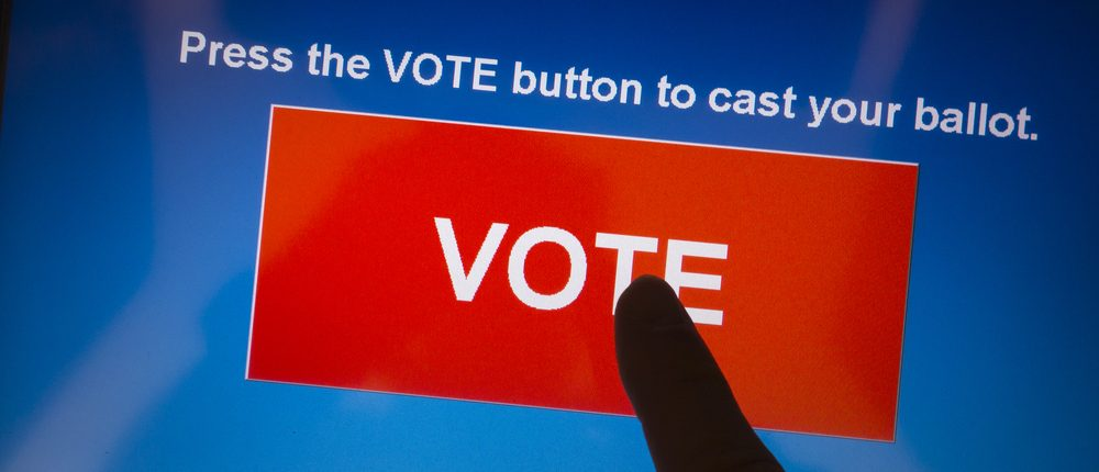 Electronic voting machine (Shutterstock)