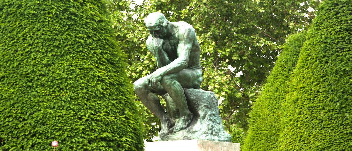 The Thinker by Auguste Rodin, Paris. Photo: Shutterstock