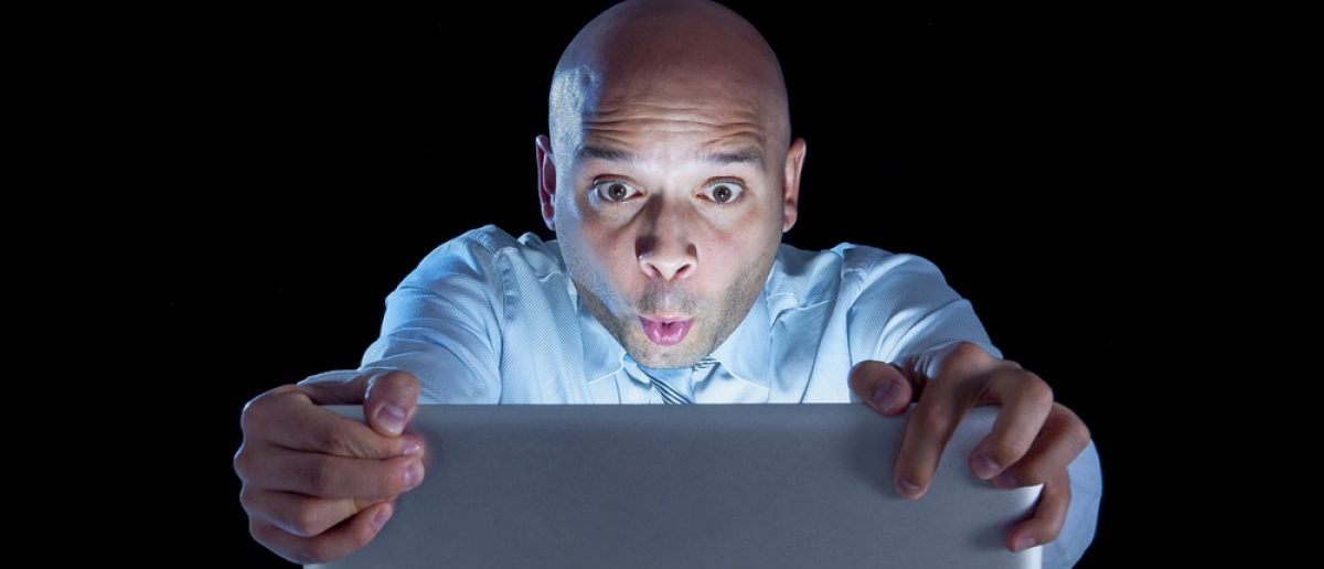 A man watching porn on a laptop. Shutterstock/Marcos Mesa Sam Wordley