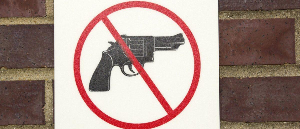 A no gun sign.