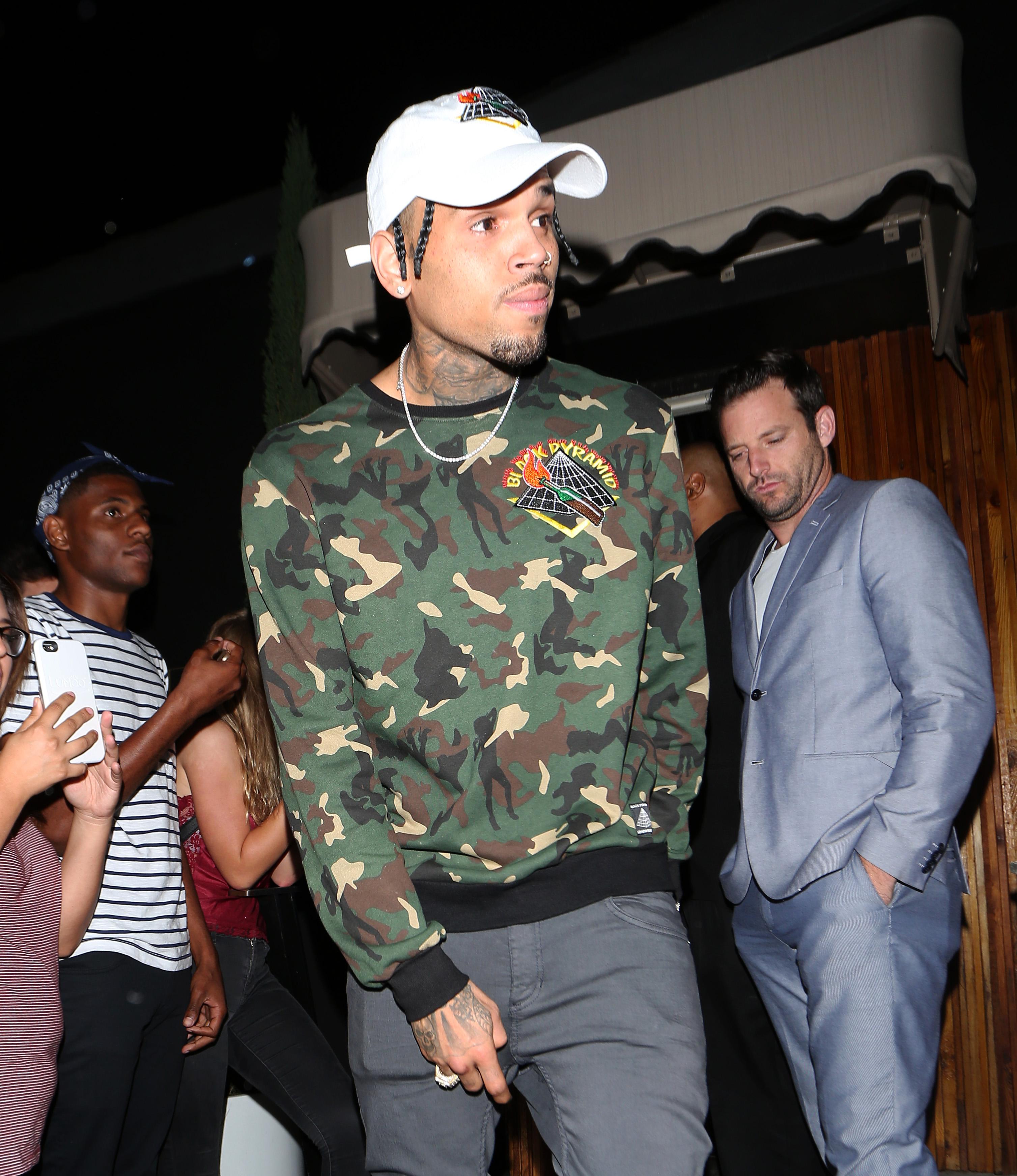 Chris Brown has a history of violence (Photo: Splash News)