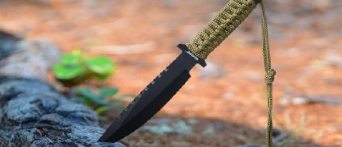 This survival knife is almost half off (Photo via Amazon)