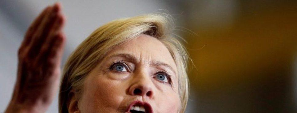 U.S. Democratic presidential nominee Hillary Clinton speaks at Futuramic Tool & Engineering in Warren, Michigan August 11, 2016. REUTERS/Chris Keane/File Photo