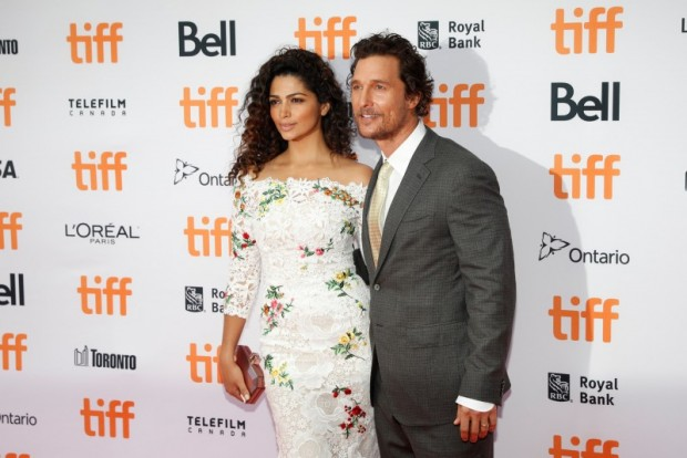 "Actor Matthew McConaughey arrives with his wife Camila Alves on the red carpet for the film ""Sing"" during the Toronto International Film Festival (TIFF) in Toronto, Canada, September 11, 2016. REUTERS/Mark Blinch"
