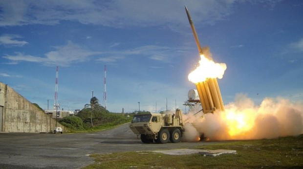 A Terminal High Altitude Area Defense (THAAD) Missile. Photo: Missile Defense Agency/Handout via Reuters/
