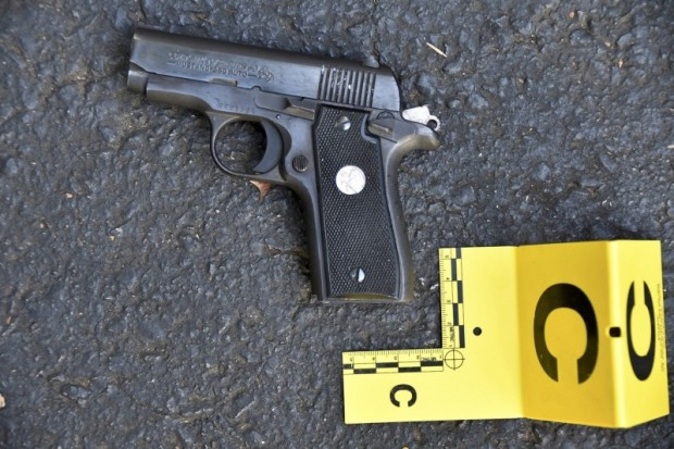 A pistol that police said was in the possession of Keith Lamont Scott is seen in a picture provided by the Charlotte-Mecklenburg Police Department