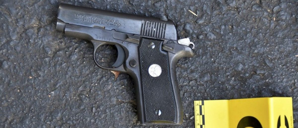 A pistol that police said was in the possession of Keith Lamont Scott is seen in a picture provided by the Charlotte-Mecklenburg Police Department in Charlotte, North Carolina, U.S. September 24, 2016. (Charlotte-Mecklenburg Police Department/Handout via Reuters)