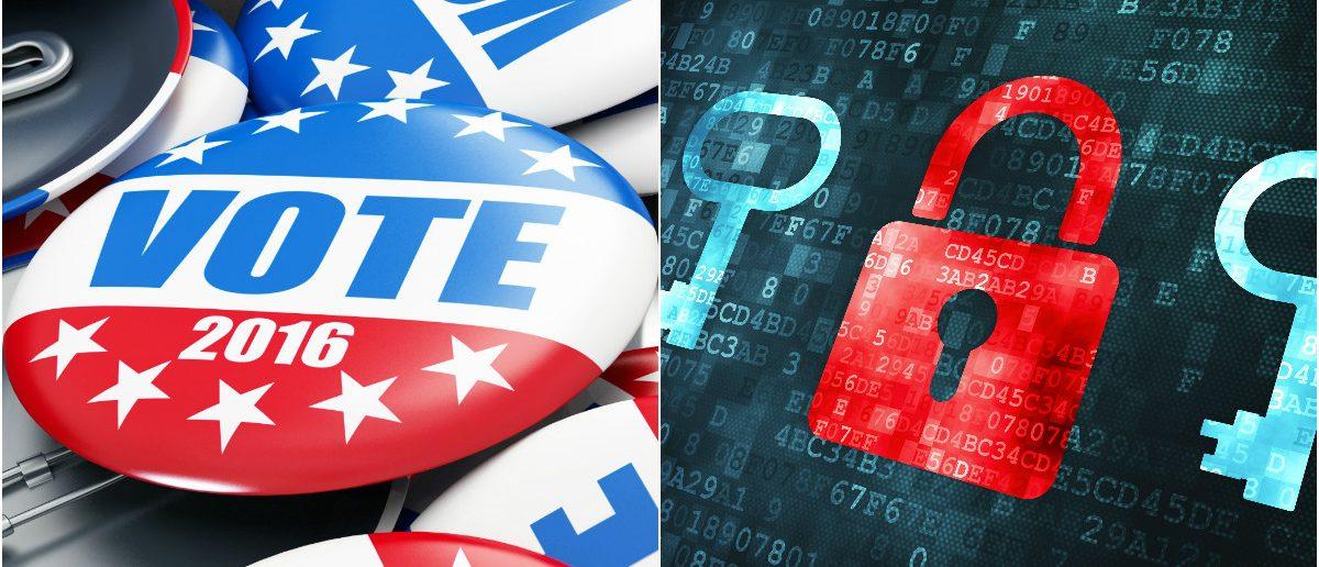 Election Buttons: 3dfoto/shutterstock.com, Computer Lock: Maksim Kabakou/shutterstock.com