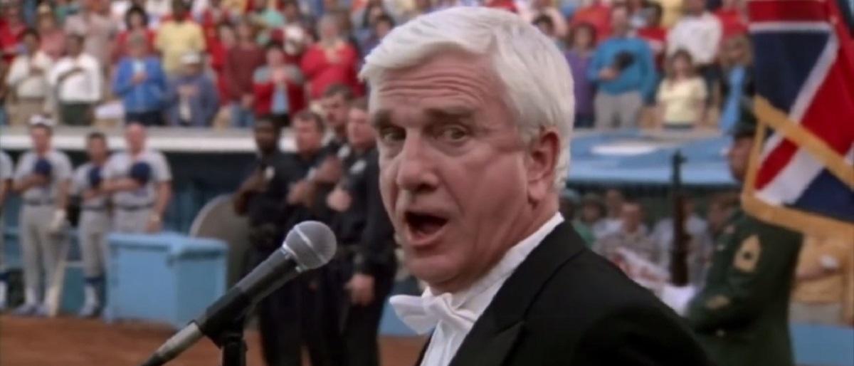 Enrico Pallozzo national anthem Naked Gun YouTube screenshot/Movieclips