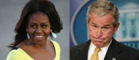 Photo Of Michelle Obama Hugging George W. Bush Goes Viral