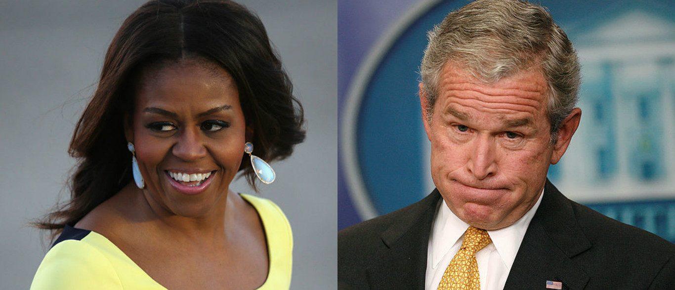 George Bush Michelle Obama