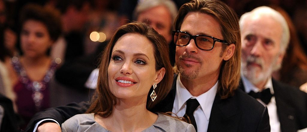Angelina Jolie and Brad Pitt attend the Cinema for Peace Gala ceremony at the Konzerthaus Am Gendarmenmarkt during day five of the 62nd Berlin International Film Festival on February 13, 2012 in Berlin, Germany