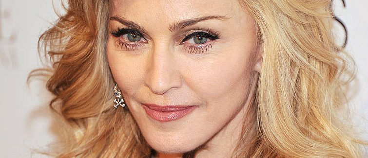 """Singer Madonna launches her signature fragrance """"Truth Or Dare"""" by Madonna at Macy's Herald Square on April 12, 2012 in New York City. (Photo by Stephen Lovekin/Getty Images)"""