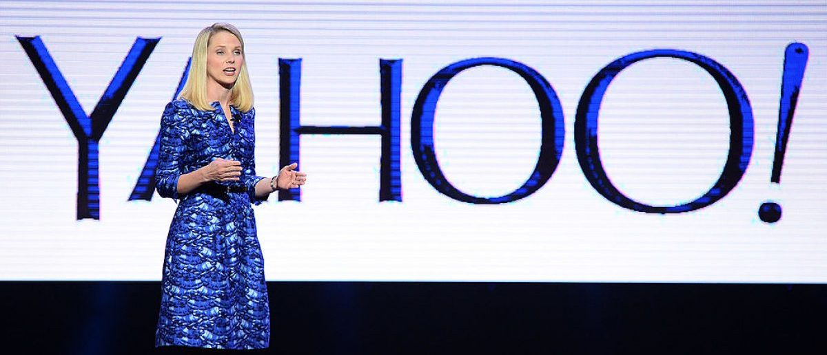 Yahoo! President and CEO Marissa Mayer delivers a keynote address at the 2014 International CES at The Las Vegas Hotel & Casino on January 7, 2014 in Las Vegas, Nevada.(Photo by Ethan Miller/Getty Images)