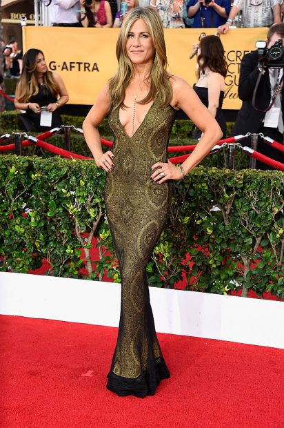 Jennifer Aniston looks amazing everywhere she goes. (Photo by Frazer Harrison/Getty Images)