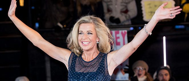 Katie Hopkins is evicted from the Big Brother house at Elstree Studios on February 6, 2015 in Borehamwood, England. (Photo by Ian Gavan/Getty Images)