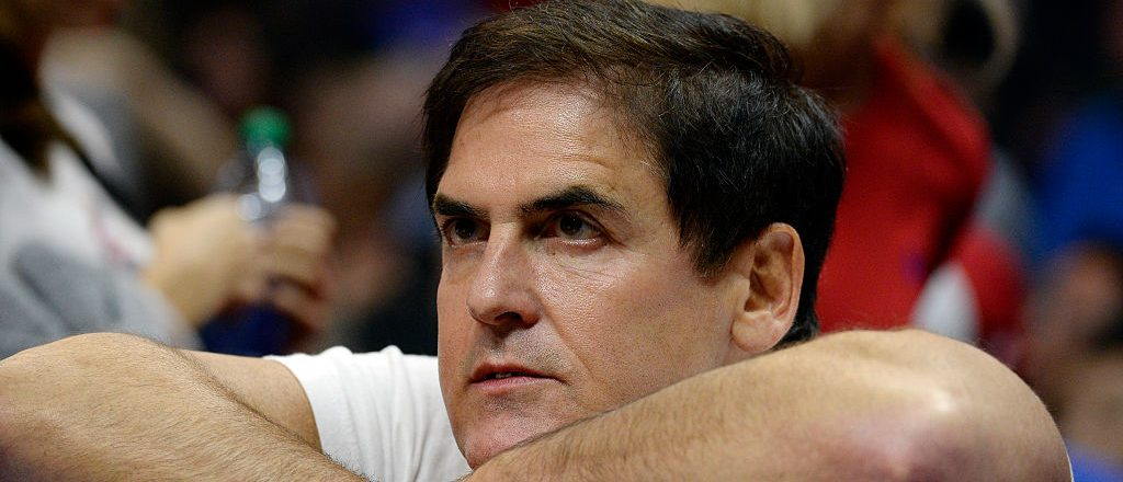 Mark Cuban, owner of the Dallas Mavericks, follows the action from behind the bench during the third quarter of the basketball game against Los Angeles Clippers at Staples Center October 29, 2015, in Los Angeles