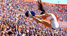 The Florida Gators are feeling it in the swamp at #25. (Photo by Rob Foldy/Getty Images)