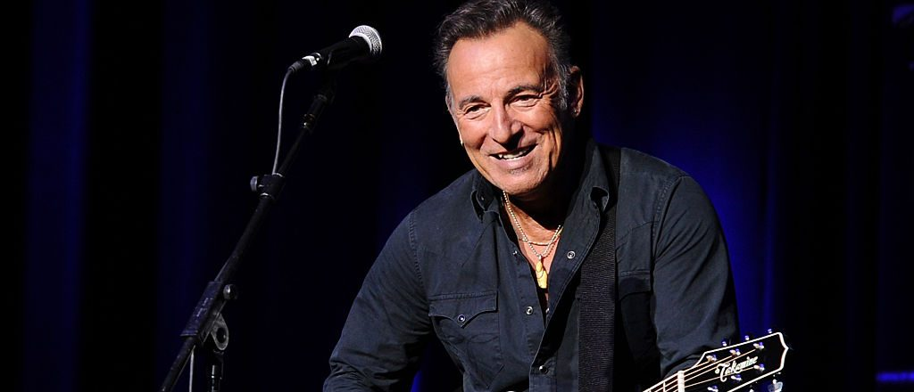 Musician Bruce Springsteen performs on stage at the New York Comedy Festival and the Bob Woodruff Foundation's 9th Annual Stand Up For Heroes Event on November 10, 2015 in New York City