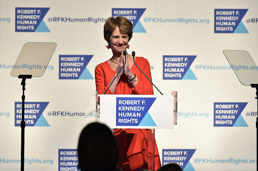 Kathleen Kennedy Townsend speaks onstage as Robert F. Kennedy Human Rights hosts The 2015 Ripple Of Hope Awards (Getty Images)