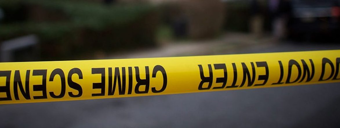 """YEADON, PA - JANUARY 8: Police tape is placed in front of the home of police officer shooting suspect Edward Archer, 30, who allegedly shot 13 times at Philadelphia Police Officer Jesse Hartnett, on January 8, 2016 in Yeadon, Pennsylvania. Surveillance footage reveals the suspect was dressed in Muslim clothing and wearing a mask. Following his arrest, suspect Edward Archer stated, """"I follow Allah and pledge allegiance to the Islamic State and that is the reason I did what I did."""" (Photo by Mark Makela/Getty Images)"""