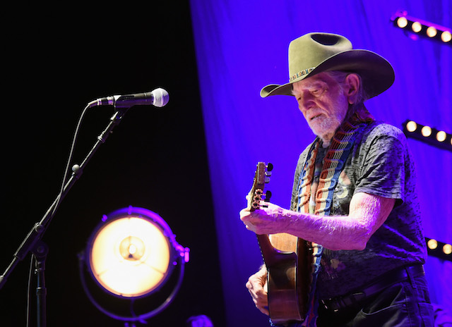NASHVILLE, TN - MARCH 16: Willie Nelson performs at The Life & Songs of Kris Kristofferson produced by Blackbird Presents at Bridgestone Arena on March 16, 2016 in Nashville, Tennessee. (Photo by Rick Diamond/Getty Images for Essential Broadcast Media)