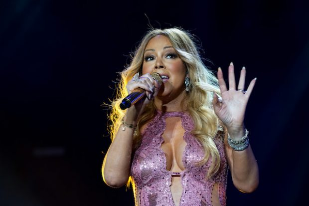 NEW ORLEANS, LA - JULY 02: Singer Mariah Carey performs on stage during the 2016 ESSENCE Festival presented by Coca Cola at the Louisiana Superdome on July 2, 2016 in New Orleans, Louisiana. (Photo by Bennett Raglin/Getty Images for 2016 Essence Festival)