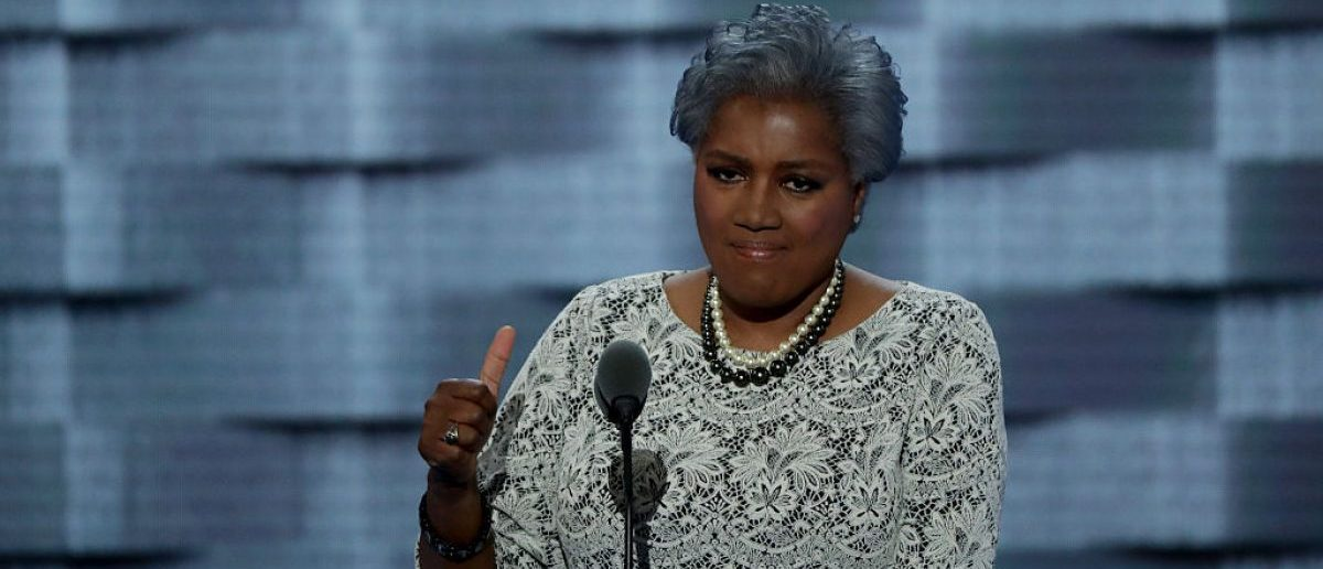 PHILADELPHIA, PA - JULY 26, 2016: Interim chair of the Democratic National Committee, Donna Brazile delivers remarks on the second day of the Democratic National Convention at the Wells Fargo Center. (Photo by Alex Wong/Getty Images)
