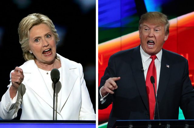 Presidential candidates Hillary Clinton and Donald Trump