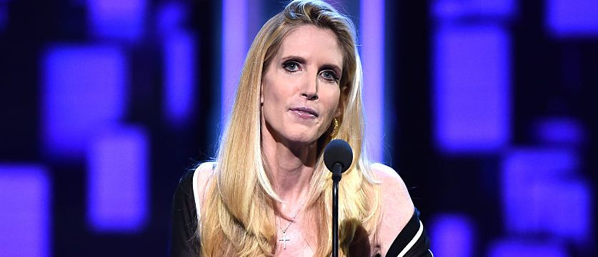 LOS ANGELES, CA - AUGUST 27:  Political commentator/author Ann Coulter speaks onstage at The Comedy Central Roast of Rob Lowe at Sony Studios on August 27, 2016 in Los Angeles, California. The Comedy Central Roast of Rob Lowe will premiere on September 5, 2016 at 10:00 p.m. ET/PT.  (Photo by Alberto E. Rodriguez/Getty Images)