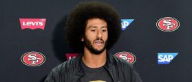 Colin Kaepernick #7 of the San Francisco 49ers speaks to media during a press conference after a 31-21 preseason win over the San Diego Chargers at Qualcomm Stadium on September 1, 2016 in San Diego, California