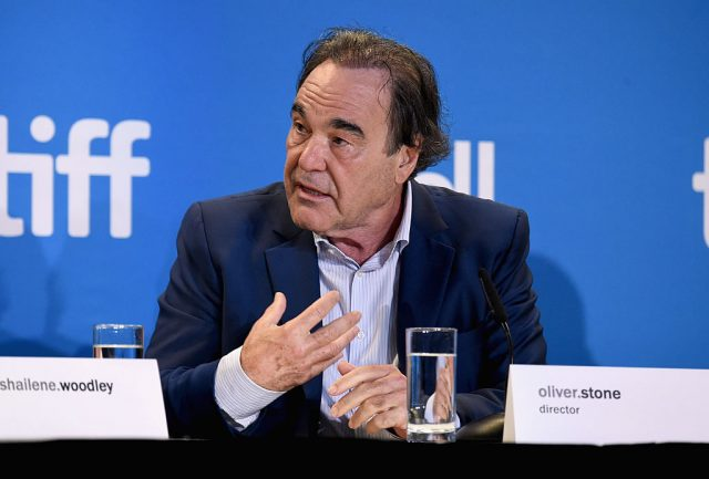 Oliver Stone speaks onstage at 'Snowden' press conference during the 2016 Toronto International Film Festival at TIFF Bell Lightbox on September 10, 2016 in Toronto, Canada