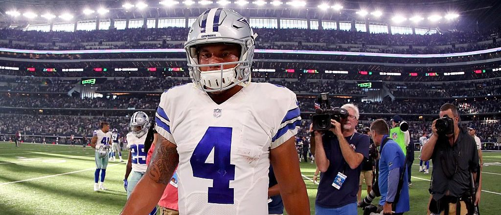 Prescott is now 1-1 as a starter. (Photo by Tom Pennington/Getty Images)