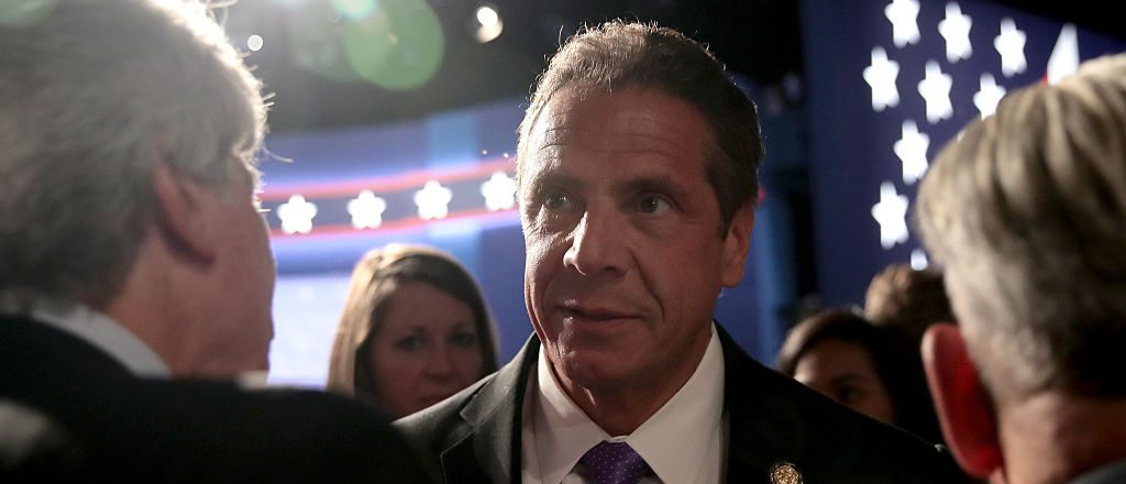 New York Governor Andrew Cuomo during the first Presidential Debate at Hofstra University on September 26, 2016 in Hempstead, New York (Getty Images)