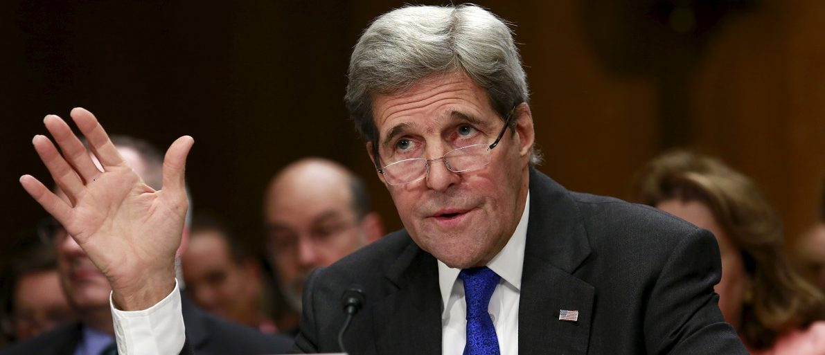 Secretary of State John Kerry testifies before a Senate Foreign Relations Committee hearing