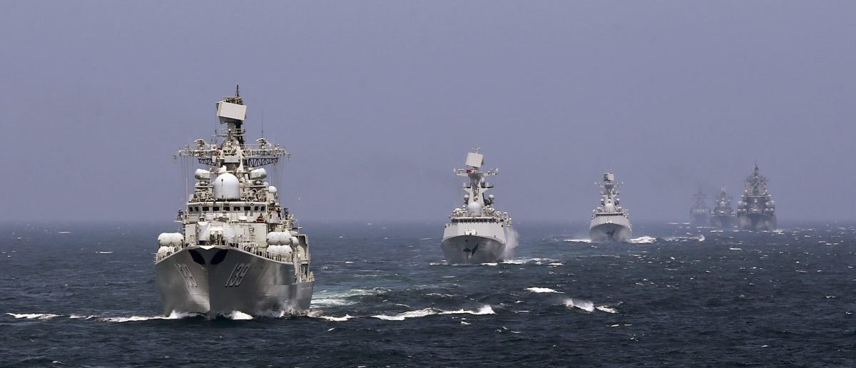 Chinese and Russian naval vessels participate in the Joint Sea-2014 naval drill outside Shanghai on the East China Sea, May 24, 2014. REUTERS/China Daily/File Photo