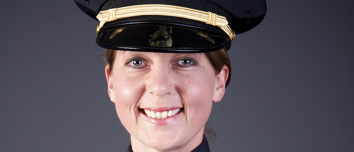 Officer Betty Shelby of the City of Tulsa Police Department in Tulsa, Oklahoma is shown in this undated photo provided September 21, 2016. (Photo courtesy of City of Tulsa Police Dept/Handout via REUTERS)