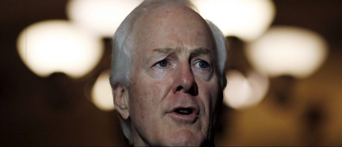 Senator John Cornyn (R-TX) speaks during a news conference following party policy lunch meeting Reuters/Carlos Barria
