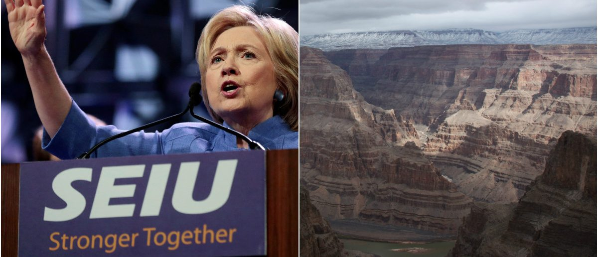SEIU & Clinton: Rebecca Cook/Reuters, Grand Canyon: Robert Galbraith/Reuters