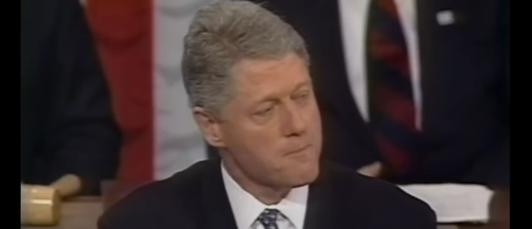 Bill Clinton remarks on immigration during 1995 State of the Union. (Youtube screen grab)