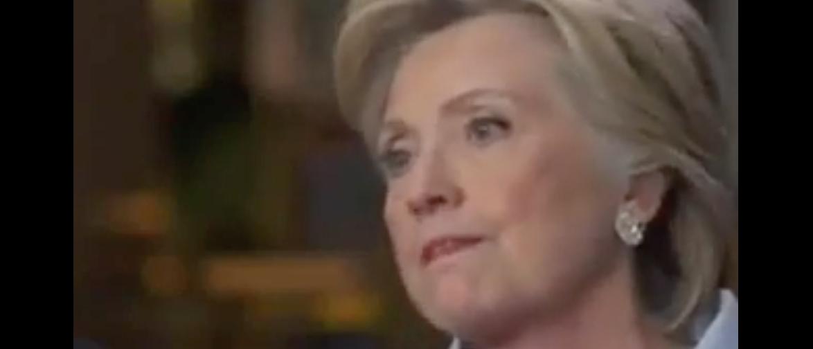 "Hillary Clinton interviewed on ""ABC News World Tonight,"" Sept. 6, 2016. (Youtube screen grab)"