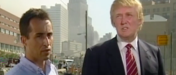 Donald Trump is interviewed by German reporter Stephan Bachenheimer. (YouTube screen grab).