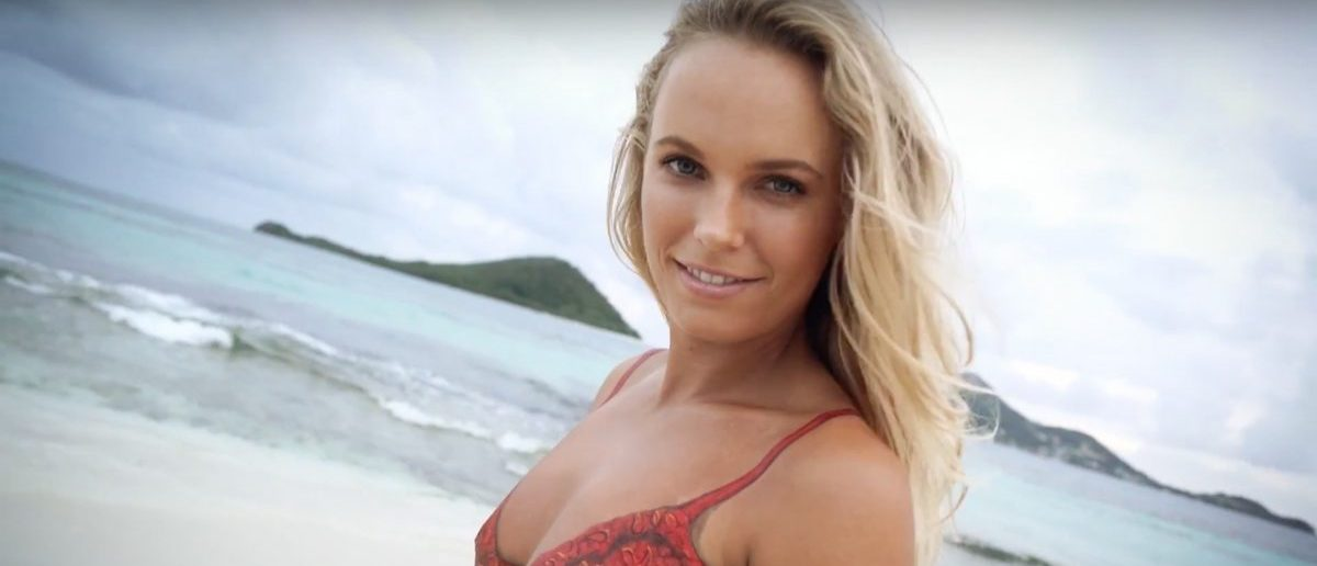 Caroline Wozniacki, former girlfriend of golfing champion Rory McIlroy, is incredible. She has also modeled for Sports Illustrated's Swimsuit Edition. (Credit: Screenshot/Youtube Sports Illustrated Swimsuit)