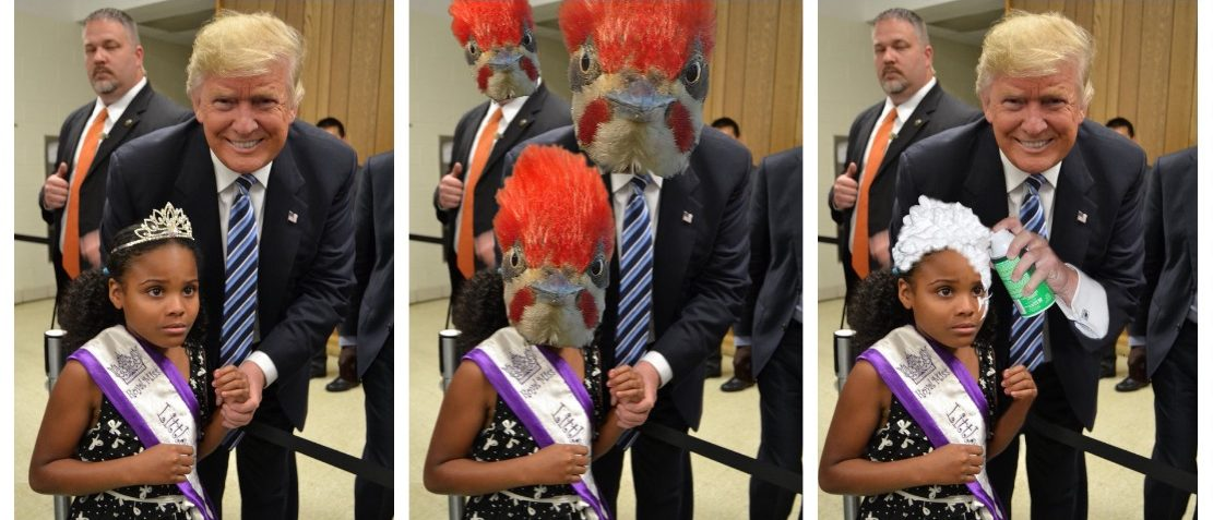 "Donald Trump takes photo with ""Little Miss Flint"" (Reddit)"