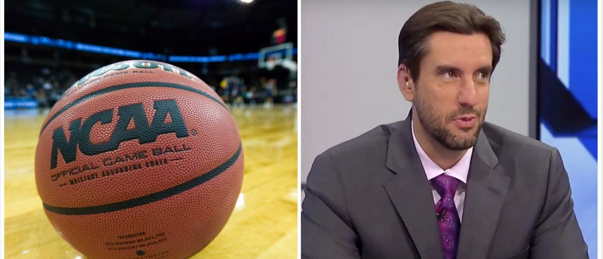 Clay Travis, NCAA (Credit: Screenshot/Youtube Fox Sports Live, Shutterstock)