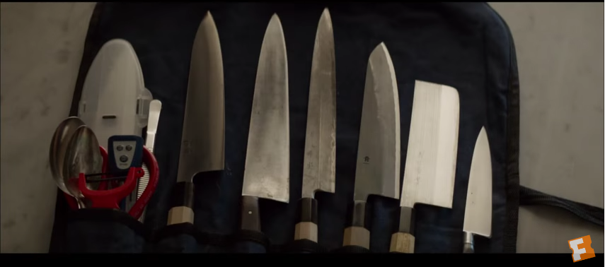 The chef from the movie 'Chef' knew you could never have too many knives (YouTube screenshot)