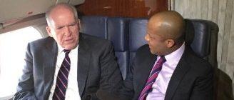 CIA Director John Brennan talks with CBS' Jeff Pegues (CBS)